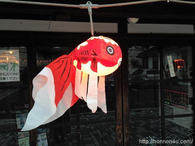柳井の金魚ちょうちんを見に行きました①